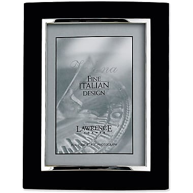 Domed Black Metal 8x10 with Silver Inner Edge Picture Frame