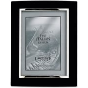 """Lawrence Frames Verona Collection 8"""" x 10"""" Metal Black/Silver Domed Picture Frame (760180)"""