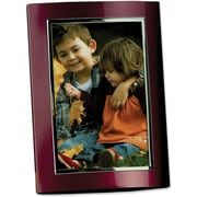 Burgundy/Brushed Silver Aluminum Dome 4x6 Picture Frame