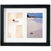 Black Wood Double 4x6 Matted Picture Frame
