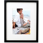 Black Wood 8x10 Picture Frame Matted to 5x7