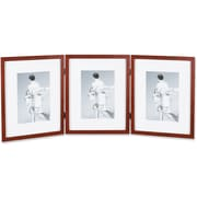 "Lawrence Frames Images Collection 5"" x 7"" Wooden Walnut Triple Picture Frames (765657T)"