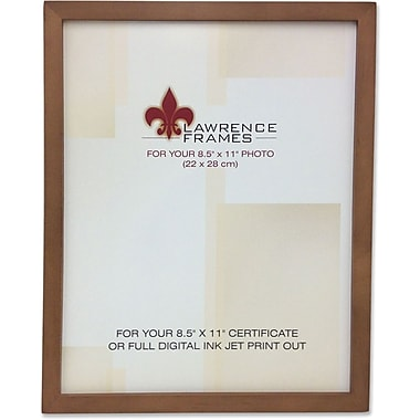 Lawrence Frames 8.5in. x 11in. Wooden Nutmeg Picture Frame (766081)