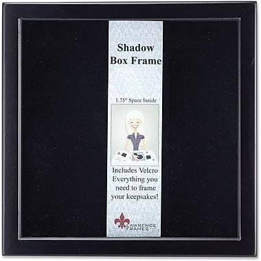 790012 Black Wood Shadow Box 12x12 Picture Frame