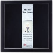 "Lawrence Frames 12"" x 12"" Wood Black Shadow Box Picture Frame (790012)"