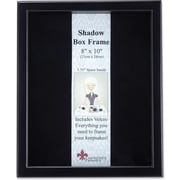 "Lawrence Frames 8"" x 10"" Wood Black Shadow Box Picture Frame (790080)"
