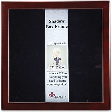 790112 Espresso Wood Shadow Box 12x12 Picture Frame