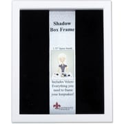 "Lawrence Frames 11"" x 14"" Wood White Shadow Box Picture Frame (790211)"