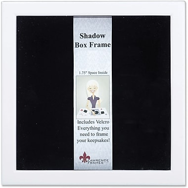 790212 White Wood Shadow Box 12x12 Picture Frame