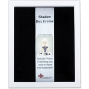 "Lawrence Frames 8"" x 10"" Wood White Shadow Box Picture Frame (790280)"