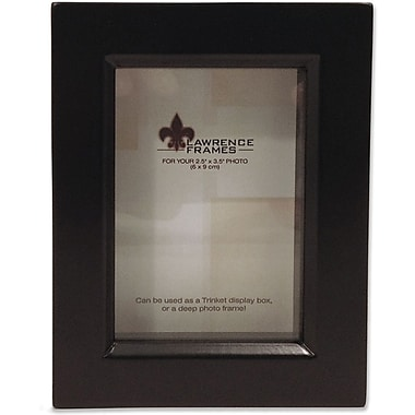 795023 Black Wood Treasure Box Shadow Box  2.5x3.5 Picture Frame