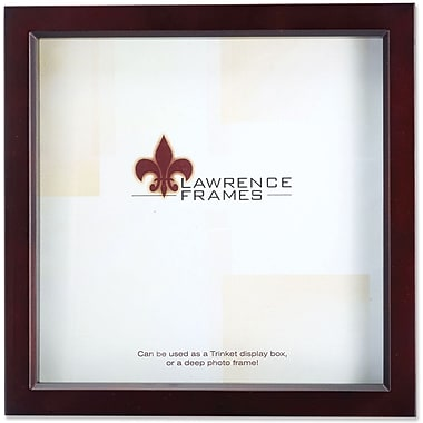 795110 Espresso Wood Treasure Box Shadow Box 10x10 Picture Frame