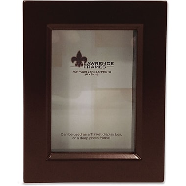 795123 Espresso Wood Treasure Box Shadow Box 2.5x3.5 Picture Frame