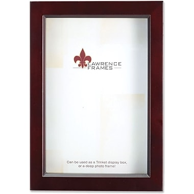 795146 Espresso Wood Treasure Box Shadow Box 4x6 Picture Frame