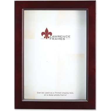 795157 Espresso Wood Treasure Box Shadow Box 5x7 Picture Frame