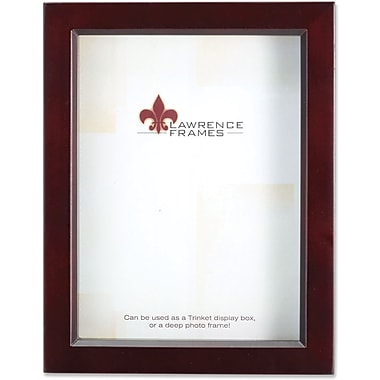 795180 Espresso Wood Treasure Box Shadow Box 8x10 Picture Frame