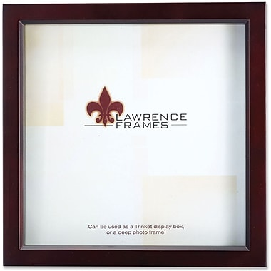 795188 Espresso Wood Treasure Box Shadow Box 8x8 Picture Frame