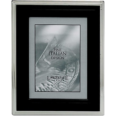 4x6 Metal Picture Frame Black and Silver Step