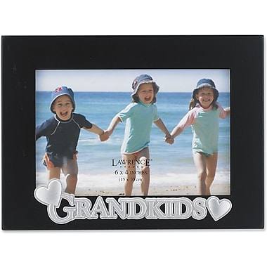4x6 Black Wood Grandkids Picture Frame - Silver Sentiments Collection