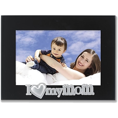 4x6 Black Wood Mom Picture Frame - Silver Sentiments Collection
