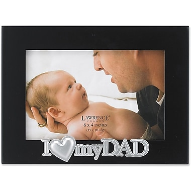 4x6 Black Wood Dad Picture Frame - Silver Sentiments Collection