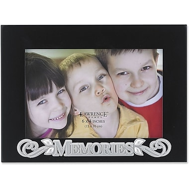 4x6 Black Wood Memories Picture Frame - Silver Sentiments Collection