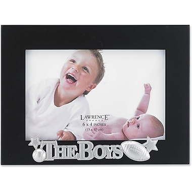 4x6 Black Wood The Boys Picture Frame - Silver Sentiments Collection