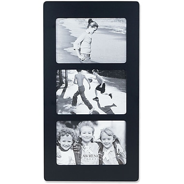 Black Wood 6x4 Multi Triple Horizontal Picture Frame