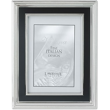 8x10 Silver Plated Metal Picture Frame - Satin Black Inner Panel