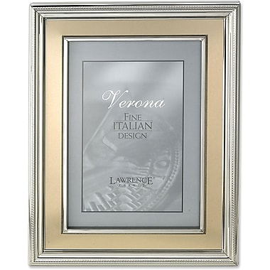 8x10 Silver Plated Metal Picture Frame - Brushed Gold Inner Panel