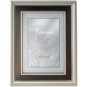 4x6 Satin Pewter Metal Picture Frame - Oil Rubbed Bronze Inner Panel