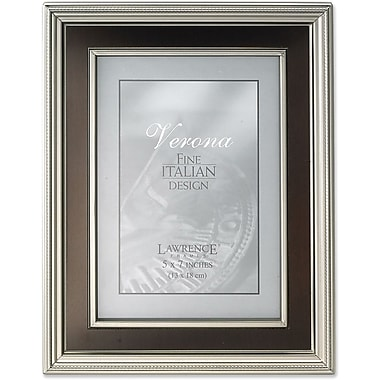5x7 Satin Pewter Metal Picture Frame - Oil Rubbed Bronze Inner Panel