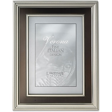 8x10 Satin Pewter Metal Picture Frame - Oil Rubbed Bronze Inner Panel