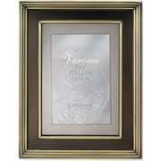 4x6 Brushed Brass Metal Picture Frame - Oil Rubbed Bronze Inner Panel