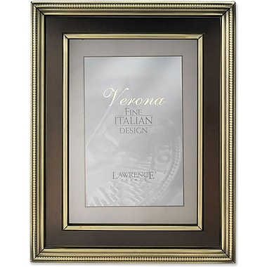 8x10 Brushed Brass Metal Picture Frame - Oil Rubbed Bronze Inner Panel