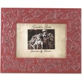 Garden Gate Rustica Red Floral Vine 4x6 Metal Picture Frame
