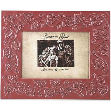 Garden Gate Rustica Red Floral Vine 5x7 Metal Picture Frame