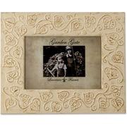 Garden Gate Rustica Ivory Floral Vine 4x6 Metal Picture Frame