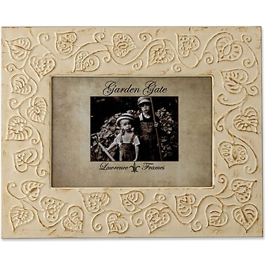 Lawrence Frames Garden Gate Collection 5in. x 7in. Metal Ivory Picture Frame (885157)