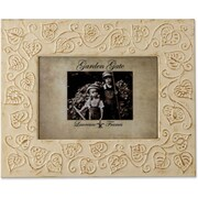 Garden Gate Rustica Ivory Floral Vine 5x7 Metal Picture Frame