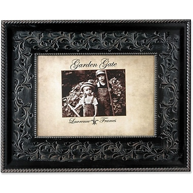 Garden Gate Rustica Bronze Floral Vine With Rope Border 4x6 Metal Picture Frame