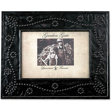 Garden Gate Rustica Bronze Bead Ball Design 4x6 Metal Picture Frame