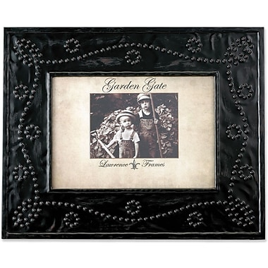 Garden Gate Rustica Bronze Bead Ball Design 5x7 Metal Picture Frame
