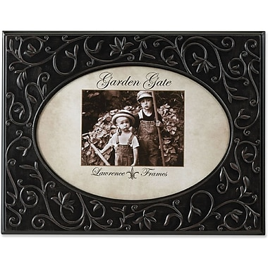 Garden Gate Rustica Bronze Floral Vine Oval 4x6 Metal Picture Frame