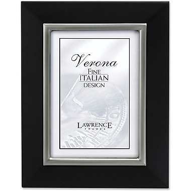 95157 Black Wood with Brushed Pewter Inner 5x7 Picture Frame