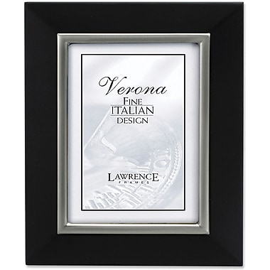 95180 Black Wood with Brushed Pewter Inner 8x10 Picture Frame