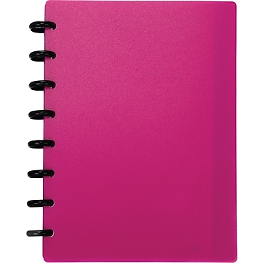 M by Staples™ Arc Customizable Durable Poly Notebook System, Pink, 6-3/8in. x 8-3/4in.