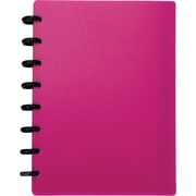M by Staples™ Arc Customizable Durable Poly Notebook System, Pink, 6-3/8 x 8-3/4