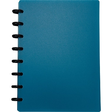 M by Staples™ Arc Customizable Durable Poly Notebook System, Blue, 6-3/8in. x 8-3/4in.