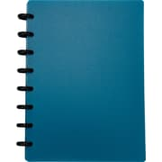 M by Staples™ Arc Customizable Durable Poly Notebook System, Blue, 6-3/8 x 8-3/4